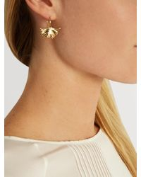 Aurelie Bidermann | Metallic Ginkgo Gold-plated Earrings | Lyst