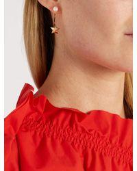 Delfina Delettrez - Multicolor Diamond, Pearl & Yellow-gold Earring - Lyst
