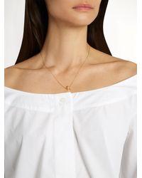 Delfina Delettrez - Metallic Diamond & Yellow-gold Necklace - Lyst