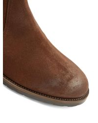 Belstaff - Brown Attwell Burnished-suede Boots for Men - Lyst