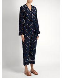Stella Jean - Blue Circle-print Silk-crepe Jumpsuit - Lyst
