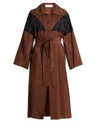 Nina Ricci | Brown Oversized Waist-tie Trench Dress | Lyst