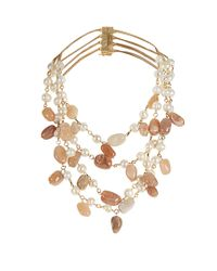 Rosantica By Michela Panero - Multicolor Kiwi Pearl And Sunstone Necklace - Lyst