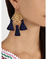 Marte Frisnes - Blue Rita Tassel Earrings - Lyst