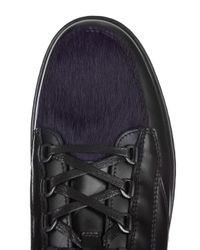 Want Les Essentiels De La Vie - Black Hopkins Low-top Lugged-sole Leather Trainers for Men - Lyst