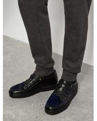 Want Les Essentiels De La Vie - Black Hopkins Low-top Lugged-sole Leather Trainers for Men - Lyst