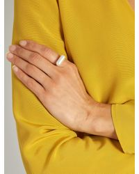 Lucy Folk - Multicolor Pill Popper Pearl And Gold-plated Ring - Lyst