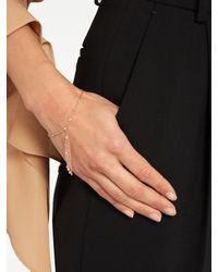 Jacquie Aiche | Blue Diamond & Rose-gold Bracelet | Lyst