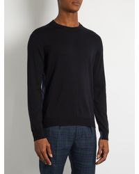 Paul Smith - Blue Crew-neck Cotton Sweater for Men - Lyst