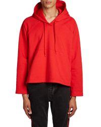 Balenciaga - Red Bell-fit Hooded Sweatshirt - Lyst