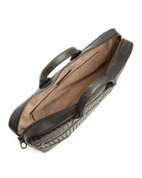 Bottega Veneta - Black Intrecciato Leather Briefcase for Men - Lyst