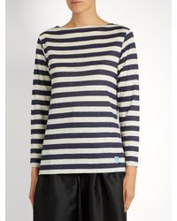 Orcival - Blue Breton-striped Linen Top - Lyst