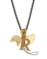 Chaos - Metallic R Gold-plated Charm - Lyst
