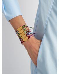 Lucy Folk - Multicolor Taco Gold-plated Friendship Bracelet - Lyst