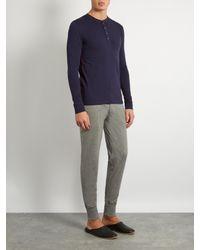 Paul Smith | Blue Henley Cotton-jersey Pyjama Top for Men | Lyst