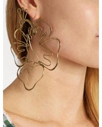 Rosie Assoulin - Metallic Hibiscus-drop Earring - Lyst
