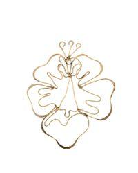 Rosie Assoulin | Metallic Hibiscus-drop Earring | Lyst