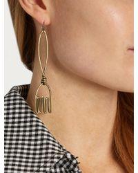 Rosie Assoulin - Metallic Fork And Knife-drop Earrings - Lyst