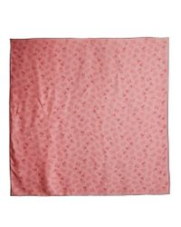 Bottega Veneta - Pink Butterfly-print Silk Scarf - Lyst