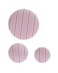 Balenciaga - Pink Set Of 3 Striped Earrings - Lyst
