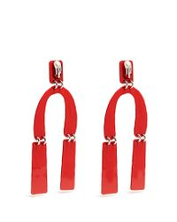 Proenza Schouler - Abstract-shaped Hammered Drop Earrings - Lyst