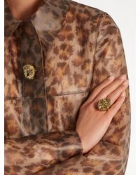 Christopher Kane - Metallic Raw Stone Ring - Lyst