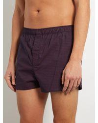 Derek Rose - Purple Modern-fit Cotton-poplin Boxer Shorts for Men - Lyst