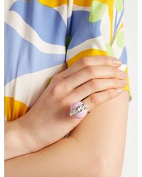 Miu Miu - Pink Bead And Crystal-embellished Ring - Lyst
