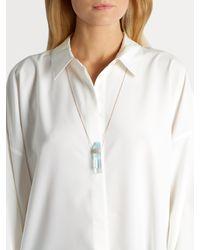 Jacquie Aiche - Blue Diamond, Aquamarine & Rose-gold Necklace - Lyst