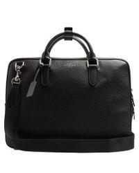 Smythson - Black Burlington Grained-leather Briefcase for Men - Lyst