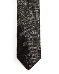 Title Of Work - Black Manhattan Silk Tie for Men - Lyst