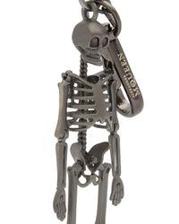 Alexander McQueen - Gray Skeleton Key Ring - Lyst
