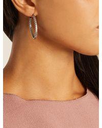 Bottega Veneta - Metallic Oxidized Sterling Silver Hoop Earrings - Lyst