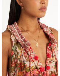 Theodora Warre - Metallic Zircon And Gold-plated Earrings - Lyst