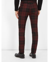 Valentino | Multicolor Checked Slim-leg Wool Trousers for Men | Lyst