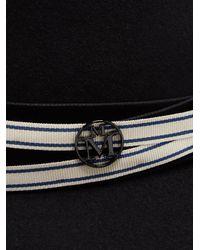 Maison Michel - Black Charles Rabbit-fur Felt Hat - Lyst