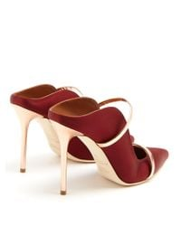 Malone Souliers - Red Maureen Satin Mules - Lyst