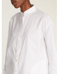 MiH Jeans - White Triangle Pinstriped Cotton Shirtdress - Lyst