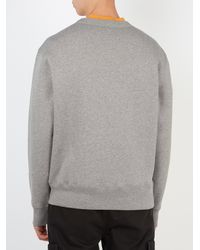 Acne - Gray Fairview Face Cotton Sweatshirt for Men - Lyst