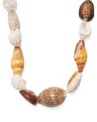 Prada - Multicolor Multi-shell Necklace - Lyst