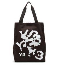Y-3 | Black Logo-print Tote | Lyst