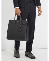 Saint Laurent - Black Sac De Jour Leather Holdall for Men - Lyst