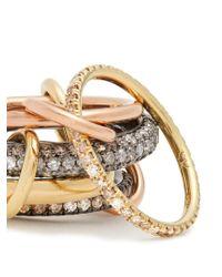 Spinelli Kilcollin - Metallic Leo Diamond, Silver, Yellow & Rose-gold Ring - Lyst