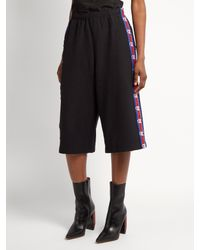 Vetements - Black X Champion Long Cotton-blend Shorts - Lyst