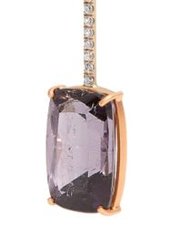 Irene Neuwirth - Purple Diamond, Tourmaline & Rose-gold Earring - Lyst