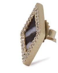 Monique Péan - Metallic Diamond, Agate & White-gold Earrings - Lyst
