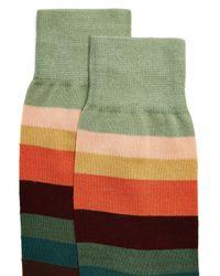 Paul Smith - Green Artist Stripe Cotton-blend Socks for Men - Lyst