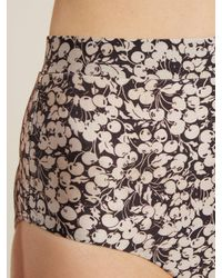 Zimmermann Multicolor Prima 50's Cherry Floral Print Tie Detail Bikini