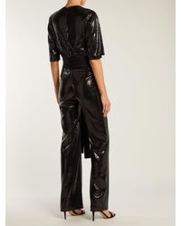 Galvan - Black Galaxy Sequined Wide Leg Jumpsuit - Lyst