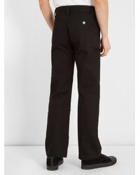 Givenchy - Black Straight-leg Cotton-drill Trousers for Men - Lyst